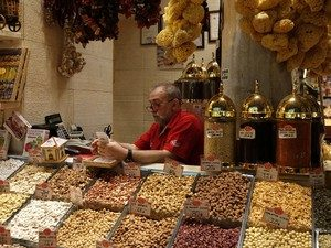 Banca no Mercado de Especiarias - Istambul - Turquia