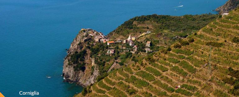 Corniglia - Cinque Terre - Itália - Uma vista espetacular - CINQUE TERRE Tesouro da Itália