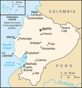 Quito - Equador - Onde fica - Mapa de localização.