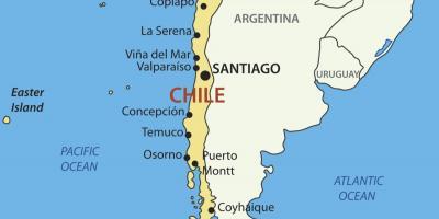 Valparaíso - Chile - Localização da cidade no mapa do Chile