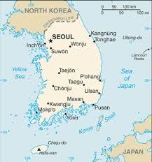 Seul - Coreia do Sul - Onde fica - Mapa de localização.