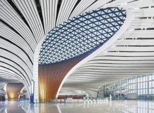Aeroporto de Pequim - Ilusão de ótica - Pequim inaugura novo aeroporto ultramoderno.