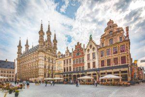 Grote Markt e centro histórico de Leuven - Bélgica