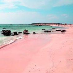 Elafonisi - Grécia - Elafonisi - Praia com areia cor-de-rosa.