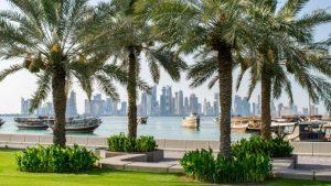 Corniche - Baía de Doha - Belezas do Qatar