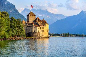 Lago de Genebra ou Lago Lemano - França e Suíça