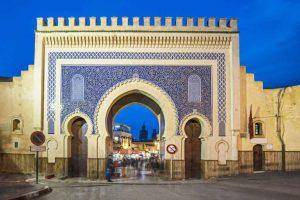 Portão de Bab Bou Jeloud - Uma das entradas da cidade de Fez - Marrocos - Cinco destinos fascinantes